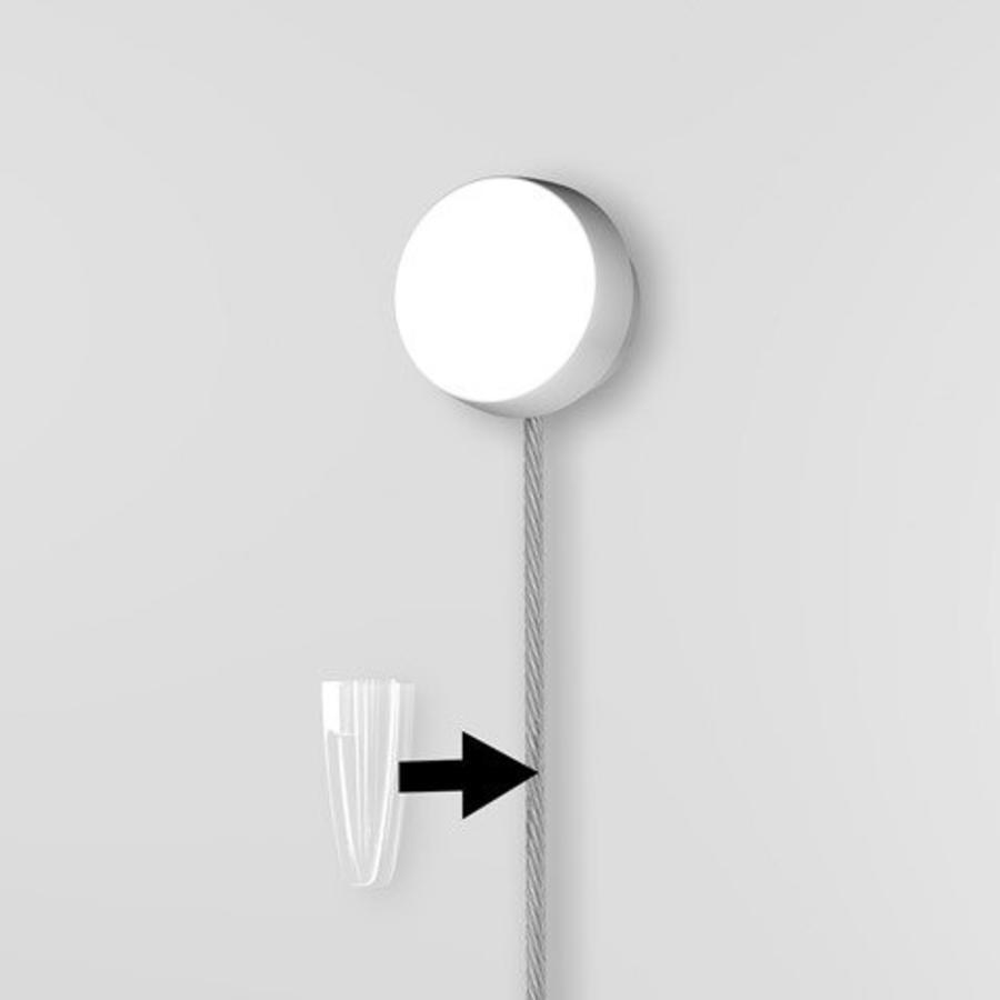 Picture Mouse wit voor schilderijrails, 6 stuks-5