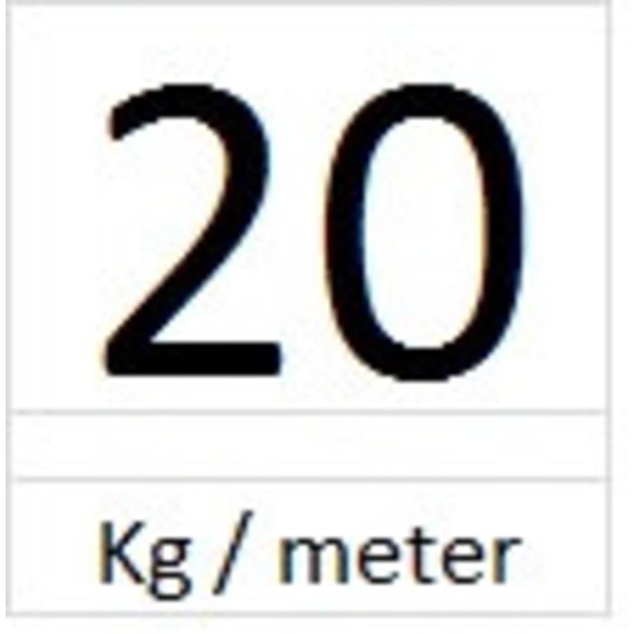 Perlon 2 mm met Solid Slider in 6 lengtes-4