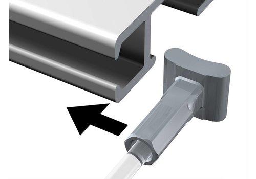 Perlonkoord 2 mm. met Solid Slider