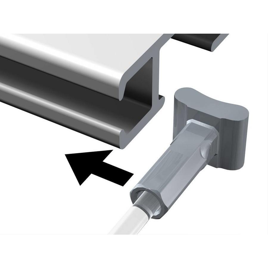 Perlon 2 mm met Solid Slider in 6 lengtes-2