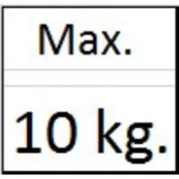 thumb-Ophanghaak alu voor aluminium lijsten max. 10 kg. voor aluminium lijsten-2