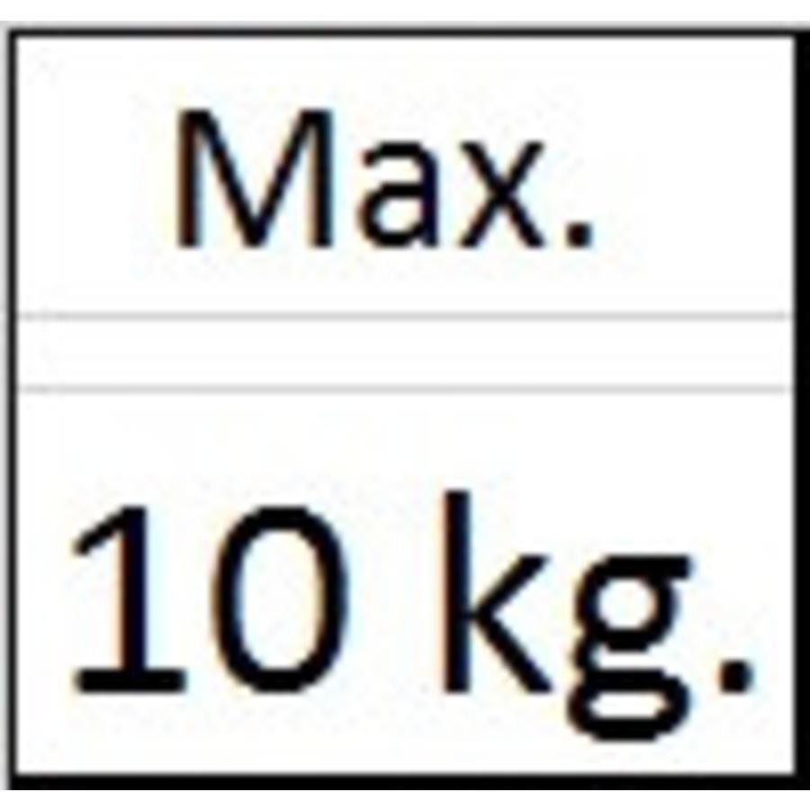 Ophanghaak alu voor aluminium lijsten max. 10 kg. voor aluminium lijsten-2