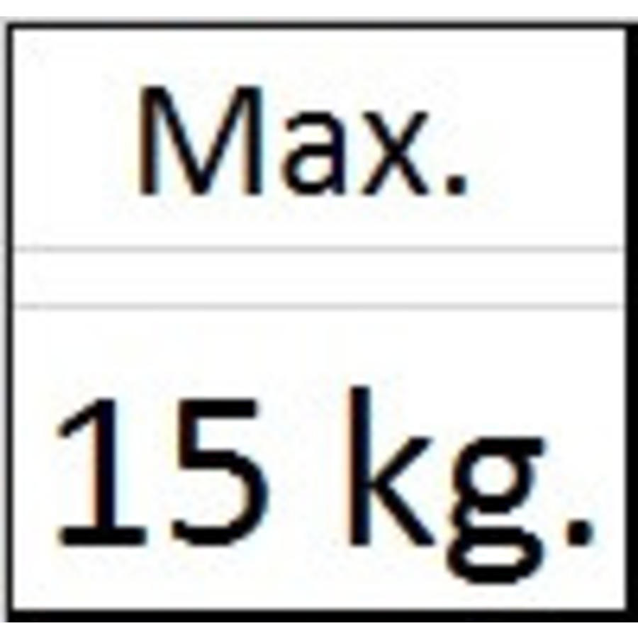 Zelfklemmende Palhaak van Artiteq.  klemt zich automatisch vast om de perlon-,  of stalendraad of 2 mm. stang.  max. 15 kg.-2