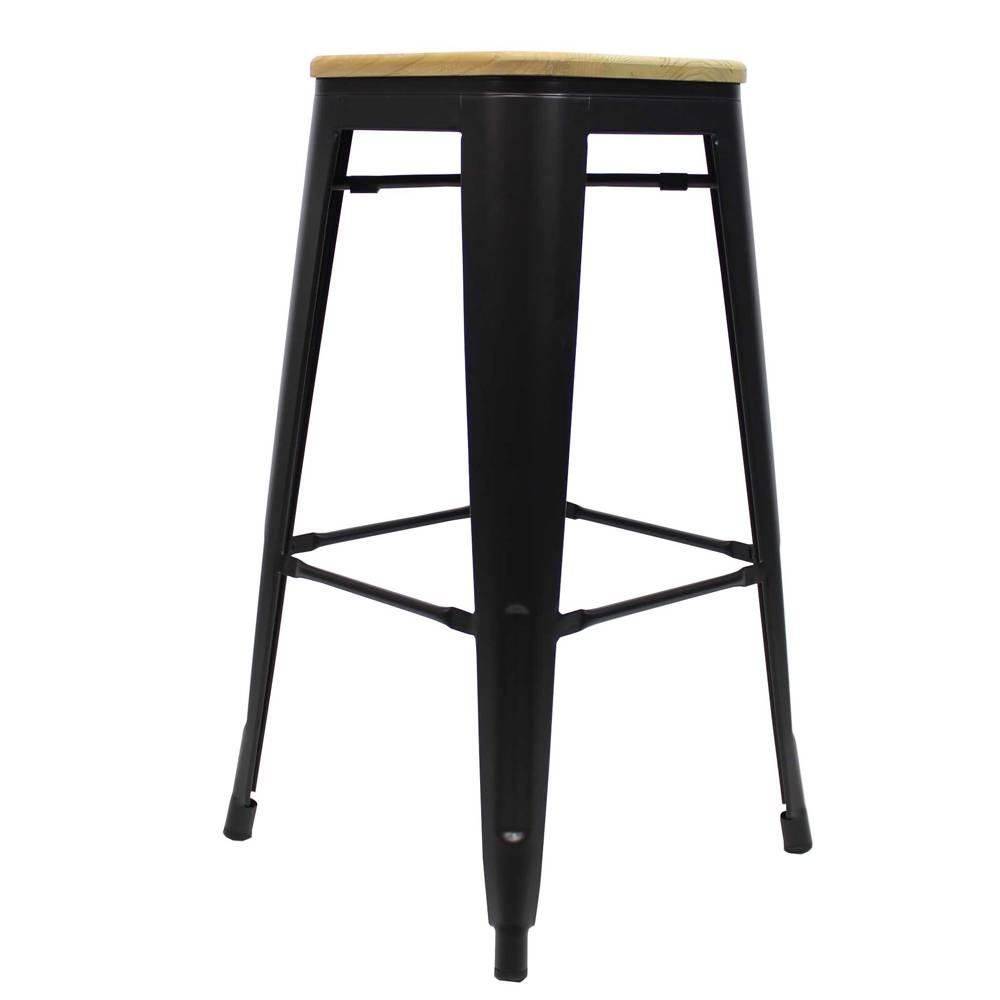 Phenomenal Tolix Bar Stool Black Wooden Seat Shipped Within 24 Hours Cjindustries Chair Design For Home Cjindustriesco