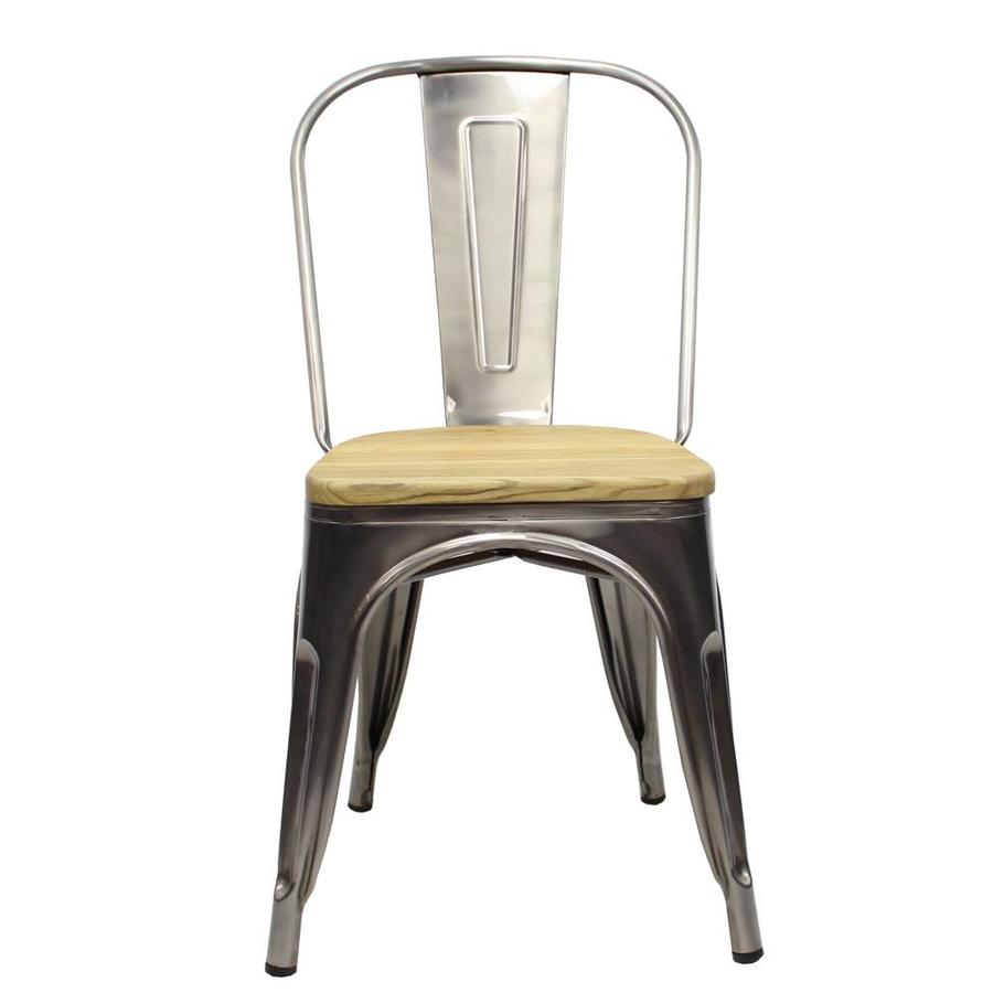 Tolix chair Metal Wooden seat