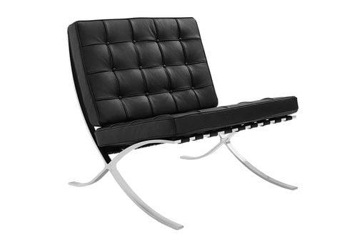 Barcelona Chair Black - Premium leather