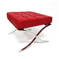 Barcelona Ottoman Red Premium Leather