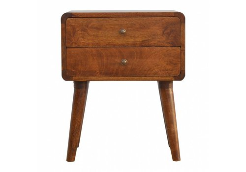 Roundy bedside table solid wood