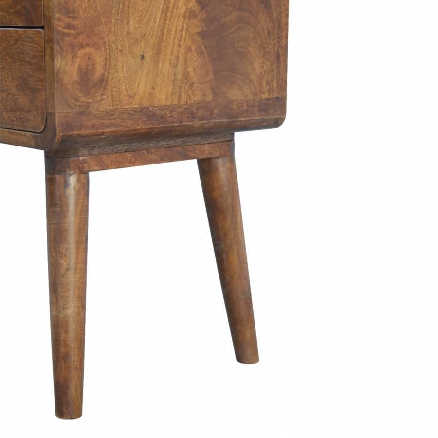 Bedside table Roundy solid mango wood