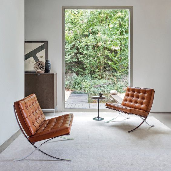 The Barcelona chair, a benchmark for industrial design
