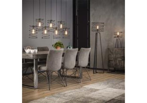 Industrial Ceiling Light Luca 7 pendants