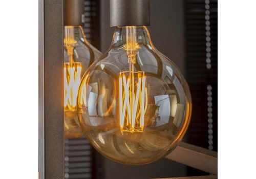 LED Light Bulb Marble Ø12,5 cm amber coloured