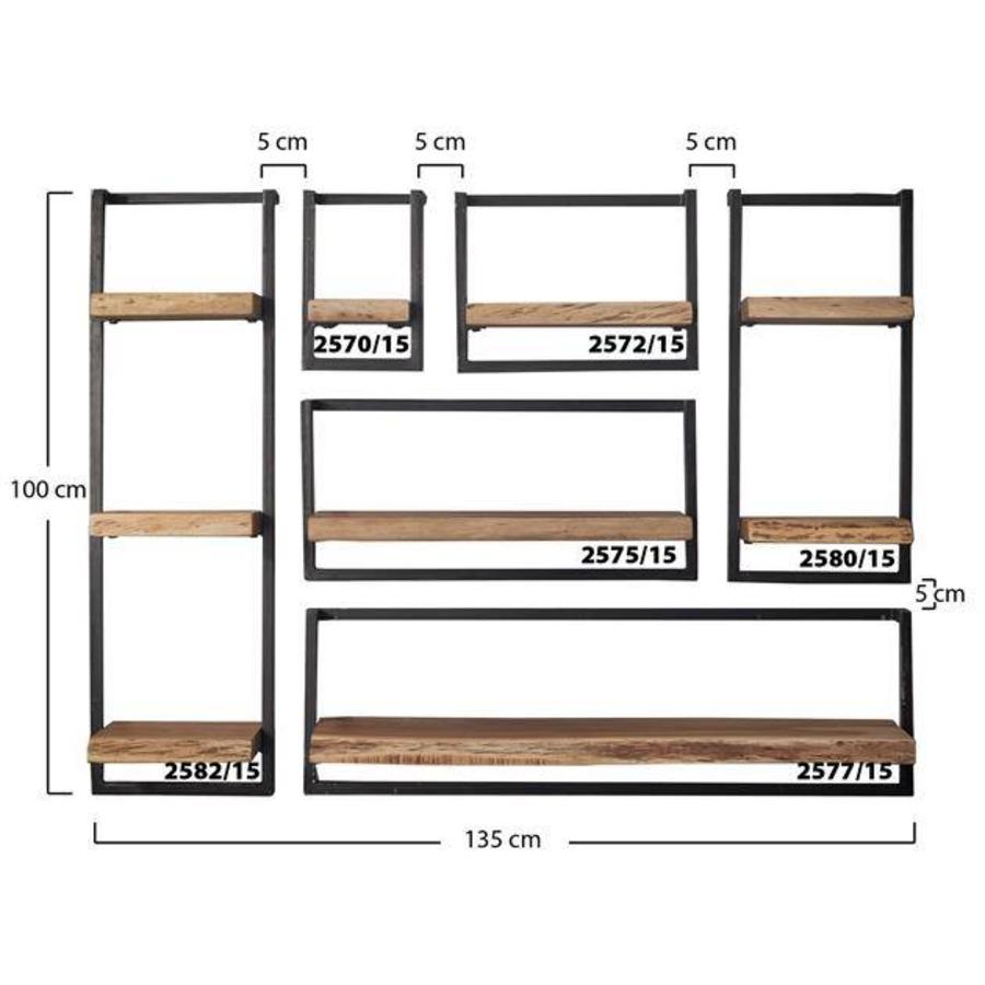 Wall shelf Jax 30 cm (100 cm height) Solid Wood