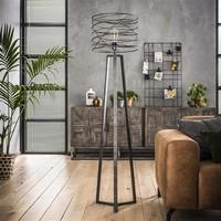 Luca floor lamp charcoal - Industrial design
