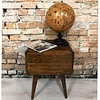 Bedside table Roundy Brown solid wood
