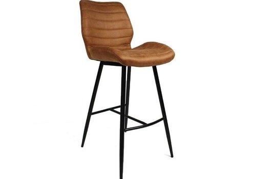 Morris Bar Stool Cognac - Industrial Design
