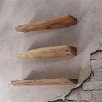 Wall shelf Edge (set of 3)  Acacia wood