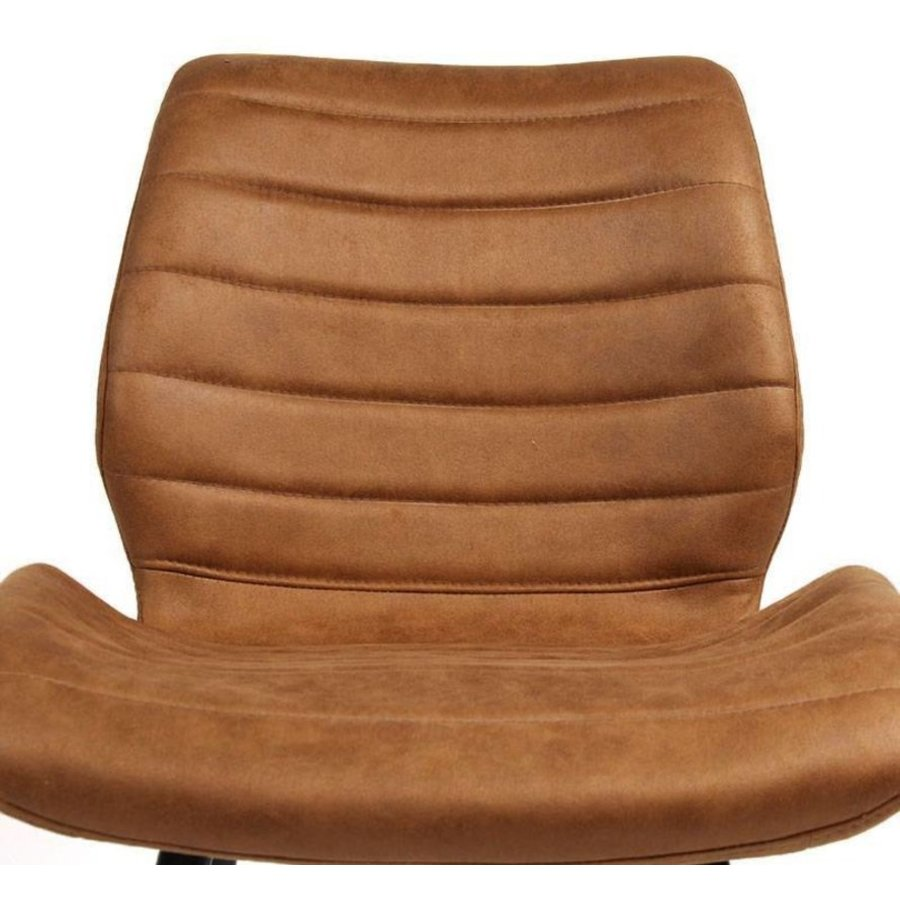 Industrial Dining Chair Morris Cognac