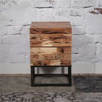 Bedside Table 2d Mill Acacia wood