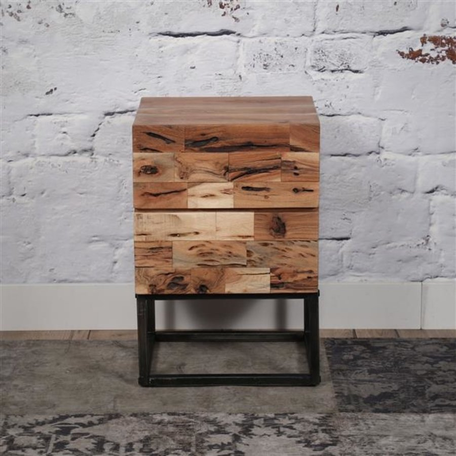 Industrial Bedside Table 2d Mill