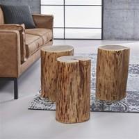 Side table Logan (set of 3) Solid acacia wood
