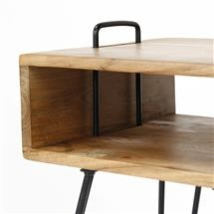 Bedside table Quadro Acacia wood