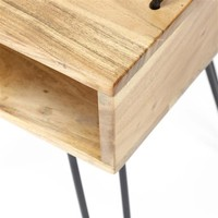 Industrial Bedside table Molly  Acacia wood