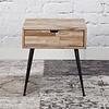 Industrial Bedside table Teca Solid teak wood