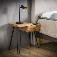 Bedside table Edge L Solid Acacia wood