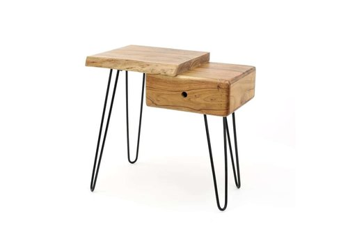 Bedside table Edge L Solid Acacia wood