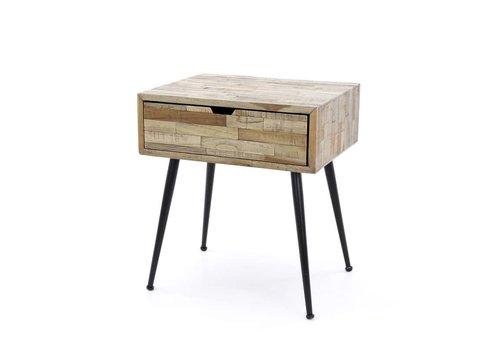 Bedside table Teca Solid teak wood