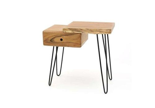 Bedside table Edge R Solid Acacia wood