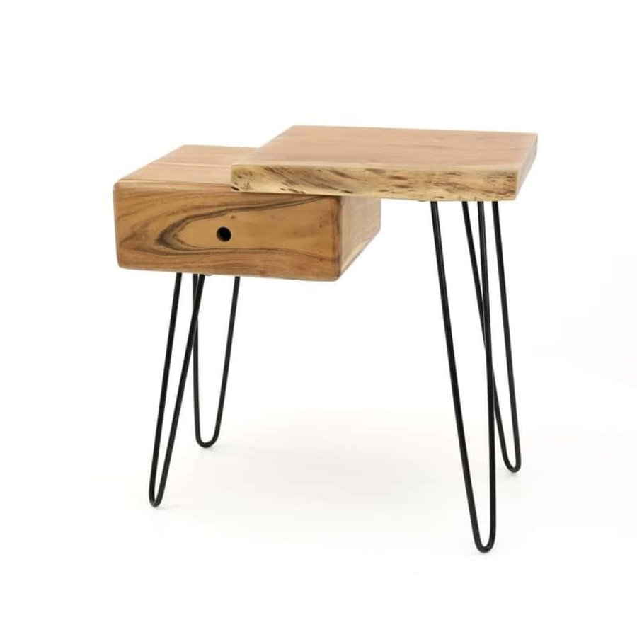 Bedside table Edge R Solid Acacia wood