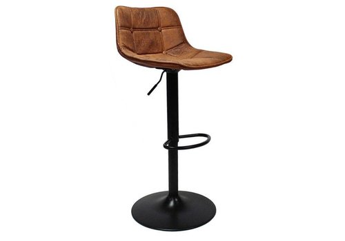 Industrial Bar Stool Ezra Cognac Leather