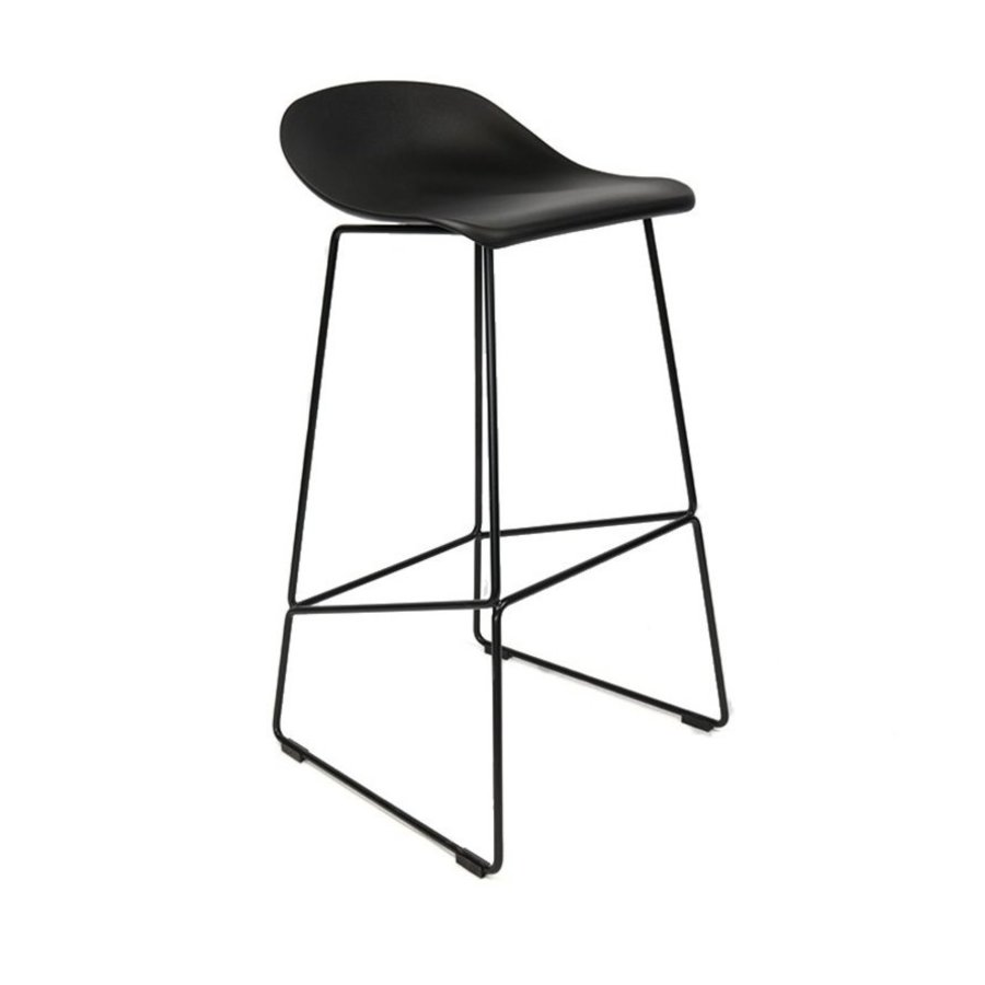 Fantastic Modern Bar Stool Erica Black Gmtry Best Dining Table And Chair Ideas Images Gmtryco
