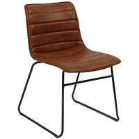 Industrial Dining chair Ryan Cognac