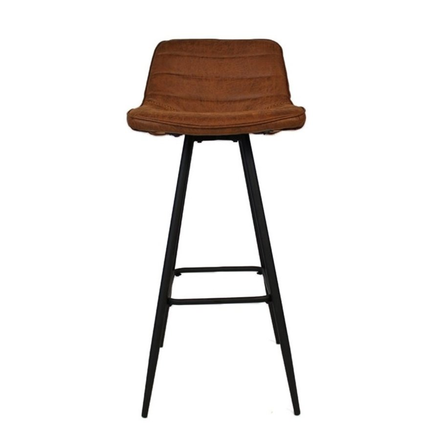 Industrial Bar Stool Jackson Cognac Leather