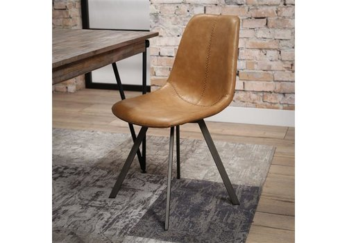 Modern dining chair Kendal Cognac