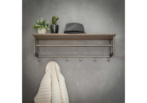 Coat rack Ricardo wall shelf Oak veneer