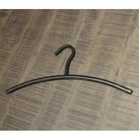 Coat Hanger Black brushed metal
