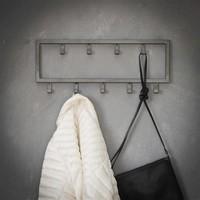 Industrial coat rack Max 9 hooks