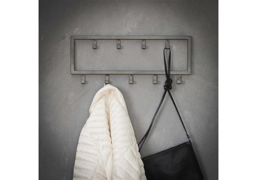Industrial coat rack Max 9 hooks