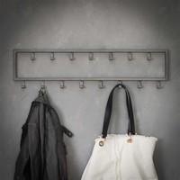 Industrial coat rack Max 15 hooks