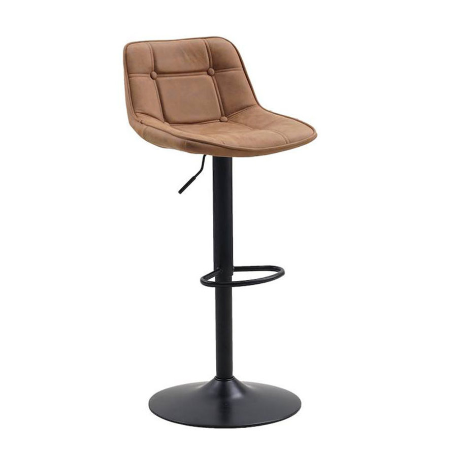 Superb Industrial Bar Stool Ezra Cognac Microfiber Unemploymentrelief Wooden Chair Designs For Living Room Unemploymentrelieforg