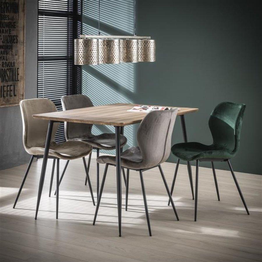 Velvet dining chair Golf Champagne