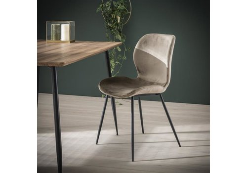 Velvet dining chair Golf Champagne