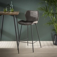 Velvet bar stool Golf Anthracite