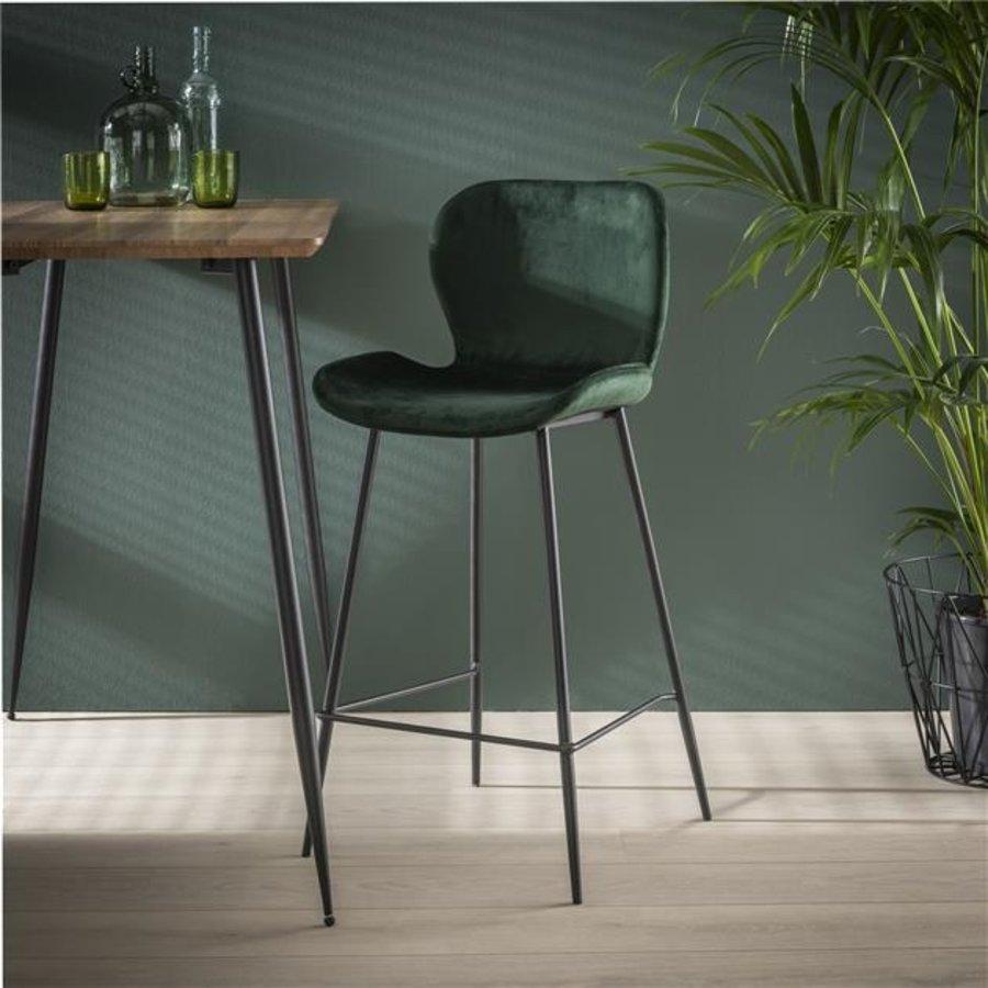 Velvet bar stool Golf Green
