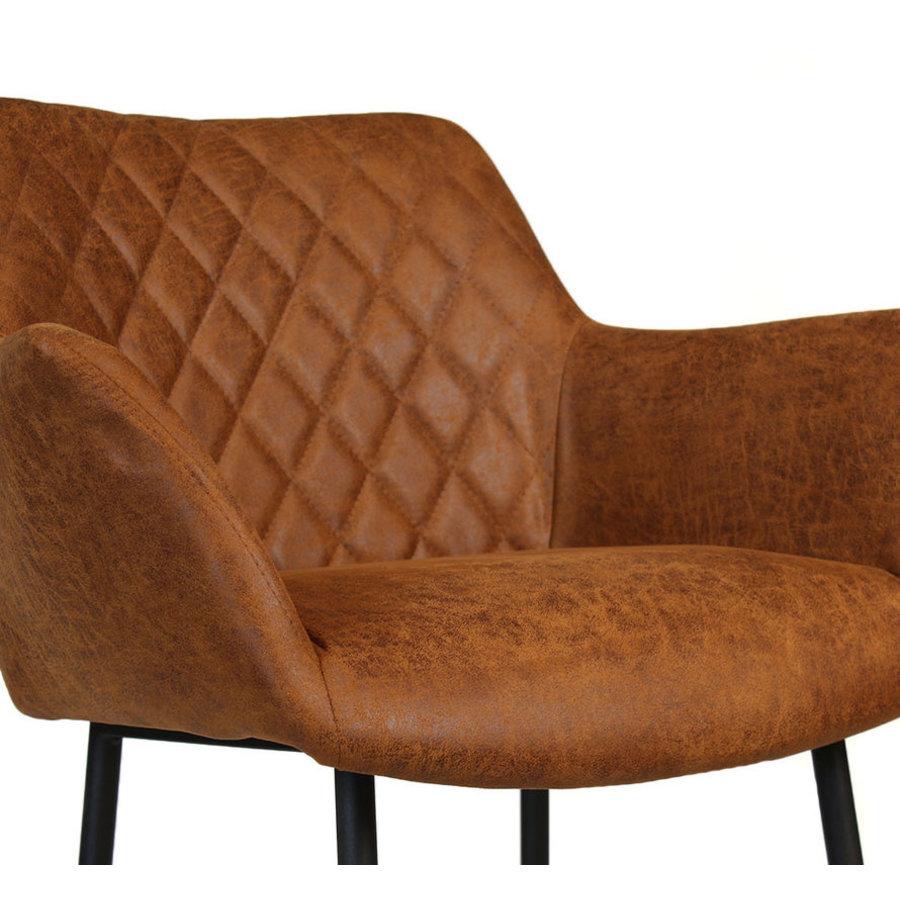Industrial Bar Stool Club Cognac leather