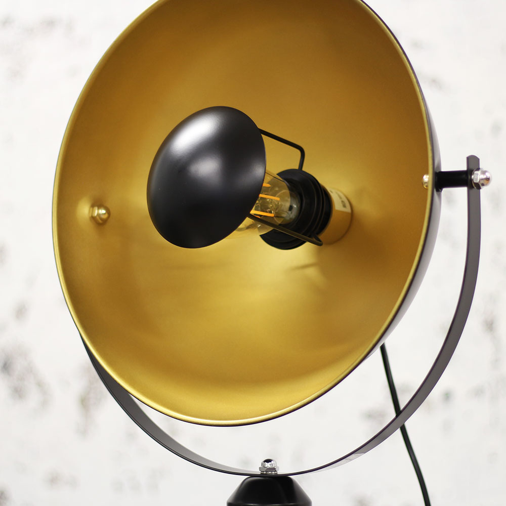 Floor Lamp Fallon Black Gold Sale Furnwise